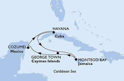 Cuba en 15 jours au départ de La Havane a bord du MSC Opera